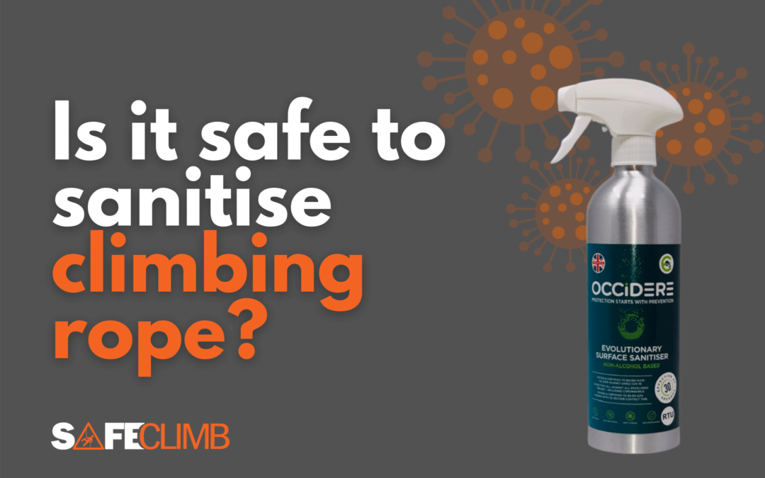 Is it Safe to Sanitise climbing rope - Beal and Occidere sanitiser