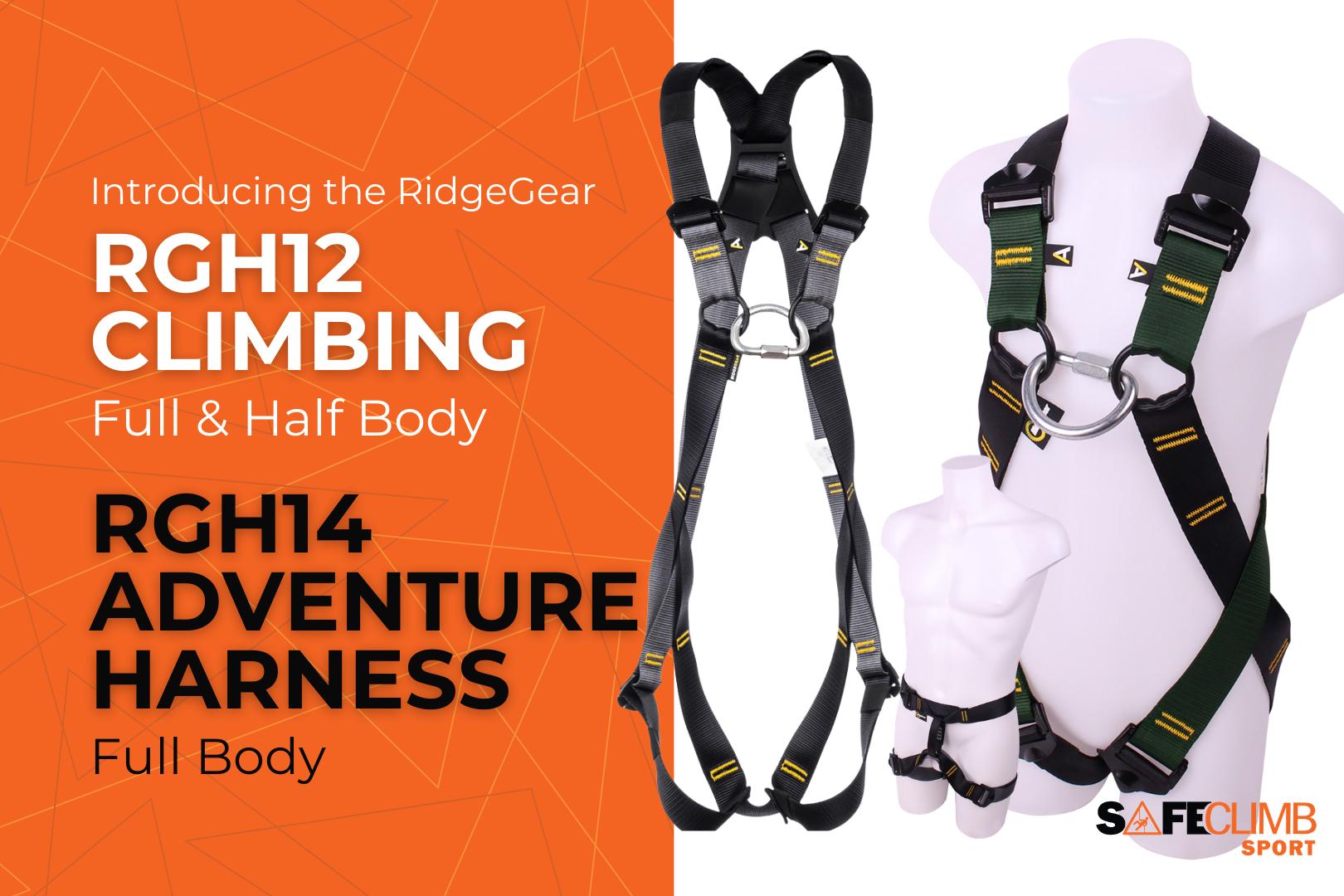 Introducing the RidgeGear RGH12 Climbing Harness & the RGH14 Adventure Harness