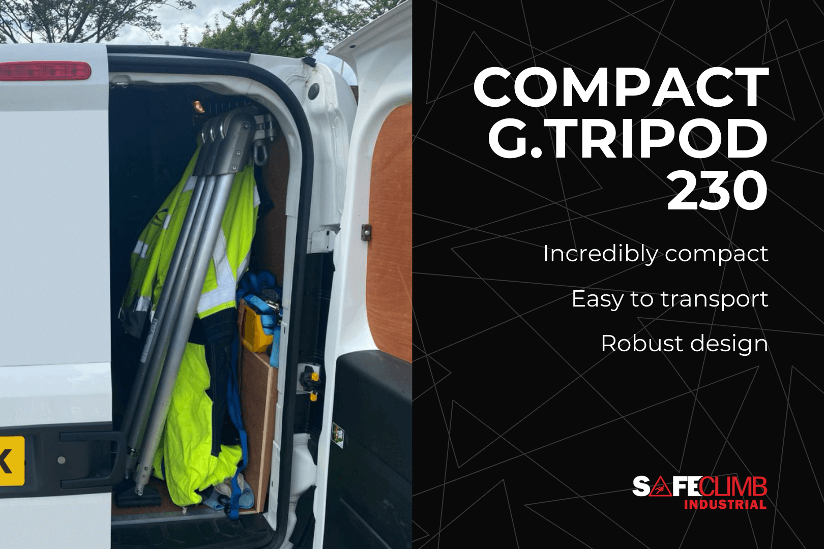 Compact G.Tripod-230 inside a van