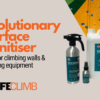 Occidere sanitiser safe for climbing walls