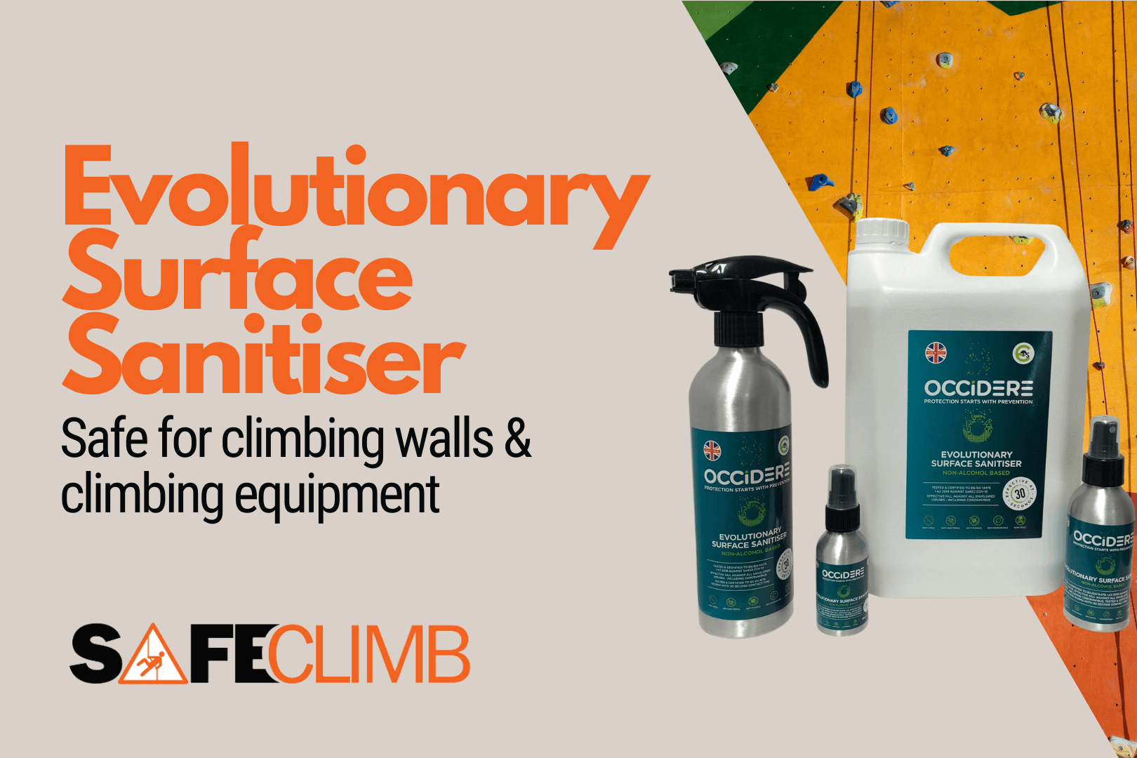 Looking for a Sanitiser That's Safe for Climbing Walls? Try Occidere