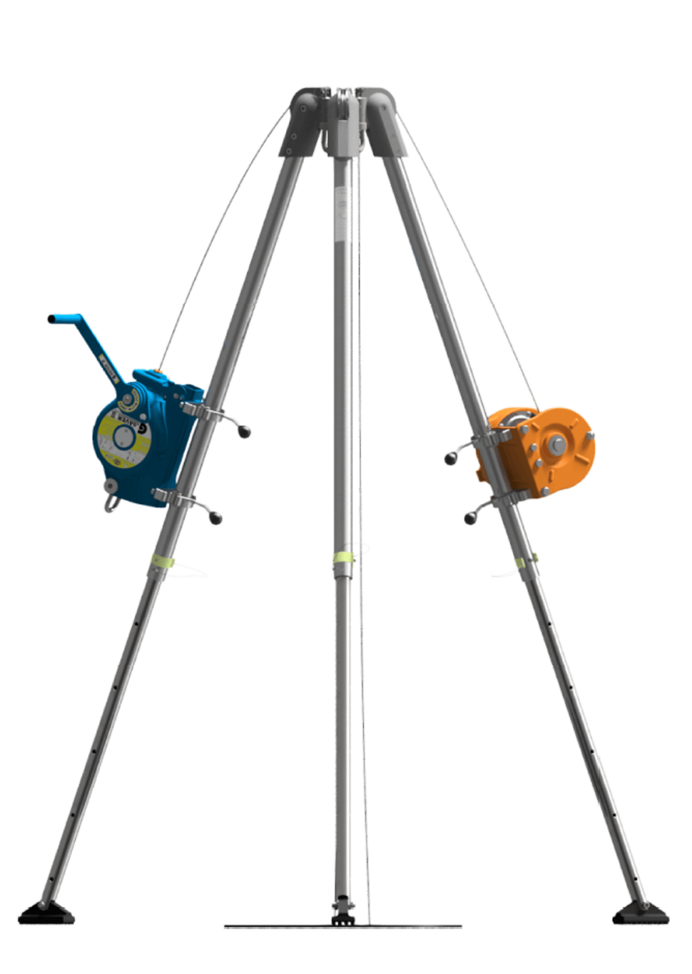 Compact G. Tripod 230 with pulleys, emergency rescue and confined spaces tripod